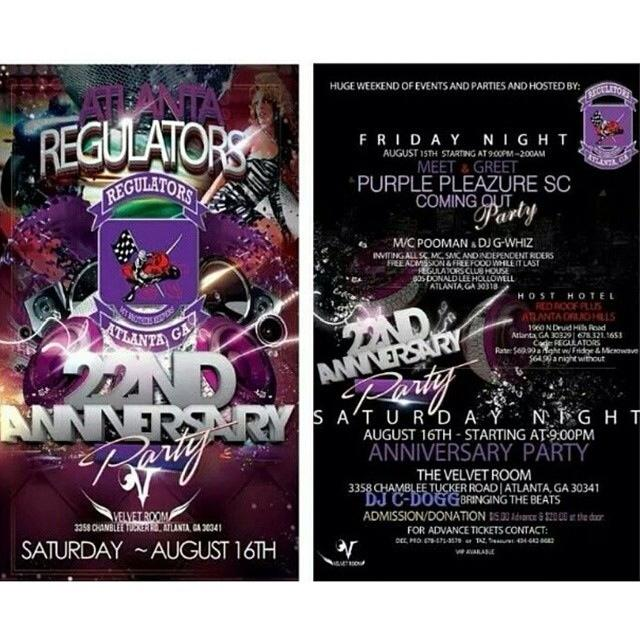 Regulators Anniv flyer